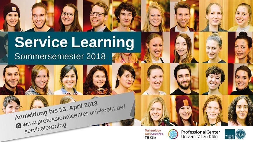 Neue FIB-Projekte im Rahmen des Service-Learning-Programms (ProfessionalCenter, Universität zu Köln)